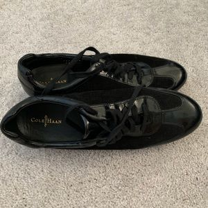 Cole Haan Tali Oxford Patent Leather Suede Sneaker